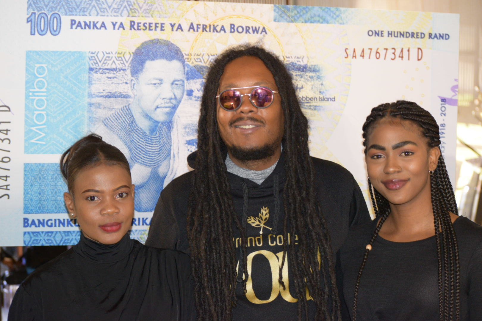 Don Dada with Seed Under at Nelson Mandela Coin Launch